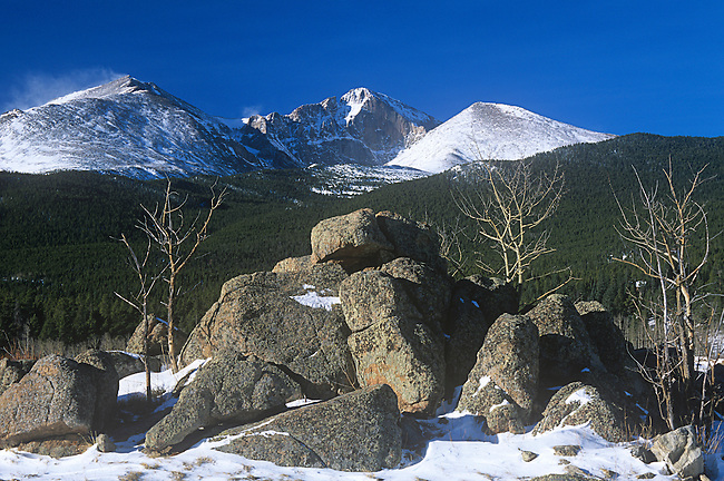 Long's Peak, Wild Basin Area, Rocky Mountain National Park, Colorado