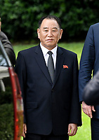 Kim Yong Chol, former North Korean military intelligence chief and one of leader Kim Jong Un's closest aides, departs the White House in Washington on Friday, June 1, 2018. <br /> CAP/MPI/RS<br /> &copy;RS/MPI/Capital Pictures