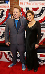 Dan Finnerty and Kathy Najimy attends the Broadway Opening Night Performance for 'Michael Moore on Broadway' at the Belasco Theatre on August 10, 2017 in New York City.
