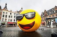 Nederland Nijmegen 2016 02 25.  Reclame voor Tele2 op de Grote Markt.  Foto Berlinda van Dam / Hollandse Hoogte