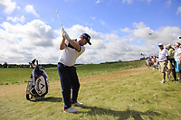 Branden Grace (RSA) in the crowd off the 1st tee during Saturday's Round 3 of the 117th U.S. Open Championship 2017 held at Erin Hills, Erin, Wisconsin, USA. 17th June 2017.<br /> Picture: Eoin Clarke | Golffile<br /> <br /> <br /> All photos usage must carry mandatory copyright credit (&copy; Golffile | Eoin Clarke)