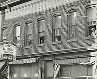 1958 Spring..Redevelopment.Downtown North (R-8)..Baltimore Delicatessen..Neal Clark Jr..NEG#.NRHA# 3371.Sleeve 154, Negative 17..