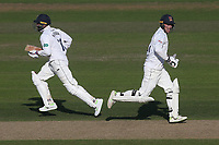 Tom Westley (R) and Murali Vijay add to the Essex total during Nottinghamshire CCC vs Essex CCC, Specsavers County Championship Division 1 Cricket at Trent Bridge on 12th September 2018