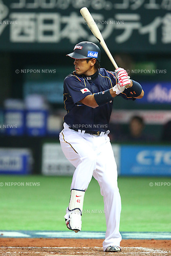 Atsunori Inaba (JPN), .MARCH 6, 2013 - WBC : .2013 World Baseball Classic .1st Round Pool A .between Japan 3-6 Cuba .at Yafuoku Dome, Fukuoka, Japan. .(Photo by YUTAKA/AFLO SPORT) [1040]