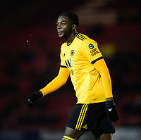 Wolverhampton Wanderers U21's Dominic Iorfa<br /> <br /> Photographer Chris Vaughan/CameraSport<br /> <br /> The EFL Checkatrade Trophy Northern Group H - Lincoln City v Wolverhampton Wanderers U21 - Tuesday 6th November 2018 - Sincil Bank - Lincoln<br />  <br /> World Copyright © 2018 CameraSport. All rights reserved. 43 Linden Ave. Countesthorpe. Leicester. England. LE8 5PG - Tel: +44 (0) 116 277 4147 - admin@camerasport.com - www.camerasport.com