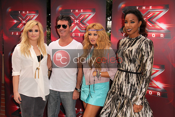Demi Lovato, Simon Cowell, Paulina Rubio, Kelly Rowland<br />
