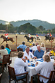MEXICO, San Pancho, San Francisco, Spectators have dinner and watch a Polo Match