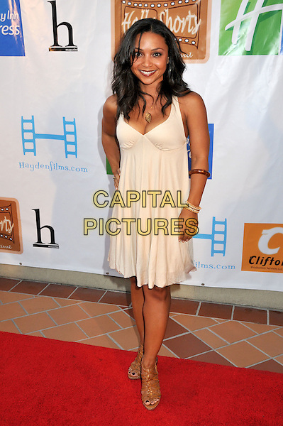 "DANIELLE NICOLET.5th Annual Hollyshorts Film Festival Screening of ""Knuckle Draggers"" held at Laemmle's Sunset 5 Theatre, West Hollywood, CA, USA..August 12th, 2009.full length white cream dress .CAP/ADM/BP.©Byron Purvis/AdMedia/Capital Pictures."