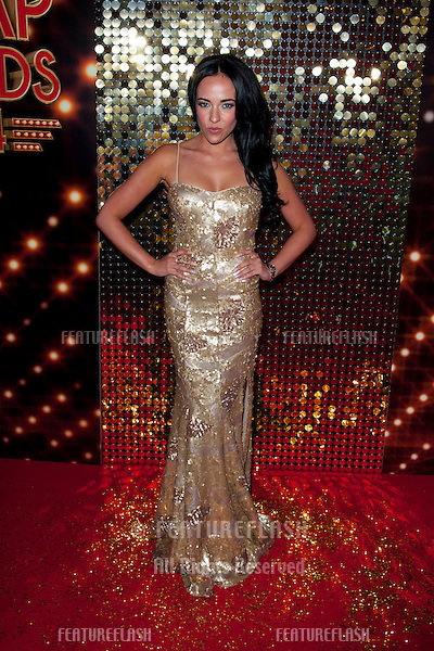 Stephanie Davis arriving for the 2014 British Soap Awards, at the Hackney Empire, London. 24/05/2014 Picture by: Dave Norton / Featureflash