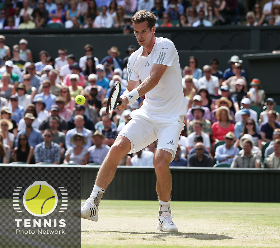ANDY MURRAY (GBR) <br /> <br /> The Championships Wimbledon 2014 - The All England Lawn Tennis Club -  London - UK -  ATP - ITF - WTA-2014  - Grand Slam - Great Britain -  2nd.July 2014<br /> <br /> <br /> &copy; J.Hasenkopf / Tennis Photo Network