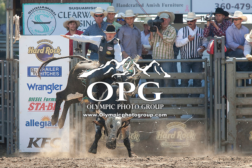 28 Aug 2011:  Kyle Joslin was not able to score in the Seminole Hard Rock Extreme Bulls competition  held at the Kitsap County Fair and Stampede Rodeo in Bremerton, Washington.