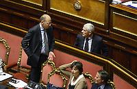 Roma, 2 Ottobre 2013<br /> Senato <br /> Il primo Ministro Enrico Letta durante il dibattito sulla fiducia con Pier Ferdinando Casini
