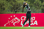 Ji Hyun Oh of South Korea tees off at the 12th hole during Round 2 of the World Ladies Championship 2016 on 11 March 2016 at Mission Hills Olazabal Golf Course in Dongguan, China. Photo by Victor Fraile / Power Sport Images