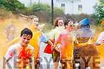 Run for cover<br /> ------------------<br /> Inclement weather didn't deter the participants having colourful fun at the Brandon/Cloghane youth club Colour fun 5k fundraiser run last Sunday.