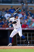Nick Franklin (6) of the Durham Bulls at bat against the Louisville Bats at Durham Bulls Athletic Park on August 9, 2015 in Durham, North Carolina.  The Bulls defeated the Bats 9-0.  (Brian Westerholt/Four Seam Images)