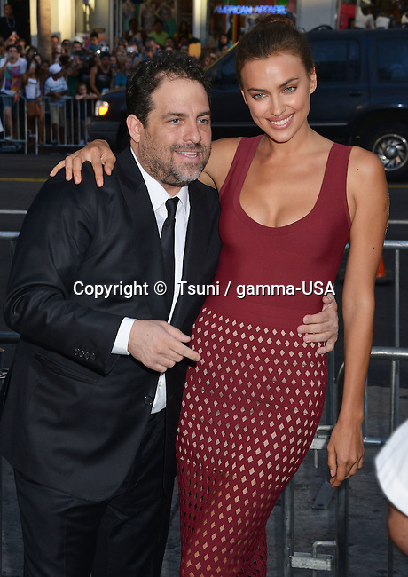 Irina Shayk and Brett Ratner - director at the Hercules Premiere at the TCL Chinese Theatre in Los Angeles.