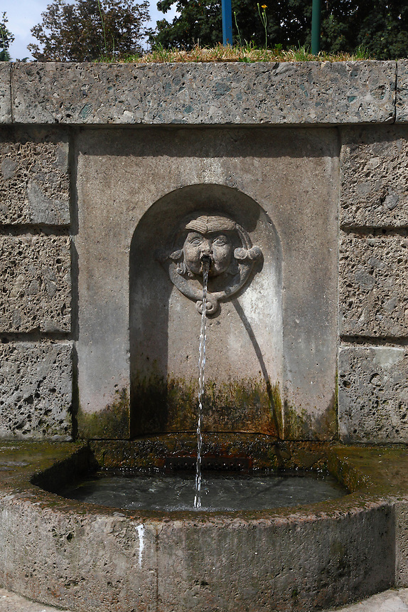 A photo of the spoiled water fountain in Sempione's park in Milano, that is on the back of the Sforza's castle. The fountain name should be due to the fact that the water pass through some sulphurous material. Digitally Improved Photo.