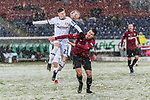 10.03.2019, HDI Arena, Hannover, GER, 1.FBL, Hannover 96 vs Bayer 04 Leverkusen<br /> <br /> DFL REGULATIONS PROHIBIT ANY USE OF PHOTOGRAPHS AS IMAGE SEQUENCES AND/OR QUASI-VIDEO.<br /> <br /> im Bild / picture shows<br /> Mitchell Weiser (Leverkusen #23) im Duell / im Zweikampf mit Hendrik Weydandt (Hannover 96 #26), <br /> <br /> Foto &copy; nordphoto / Ewert