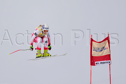 January 30, 2010: Mariella Voglreiter of Austria during the downhill portion of the Women's FIS Ski World Cup race in St. Moritz, Switzerland. Photo: CalSports/Actionplus - Editorial Use....