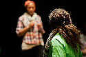 """© licenced to London News Pictures. London, UK. 18/05/2011.  """"Mad Blud"""" opens at Theatre Royal Stratford East. A new work exploring the reality behind the headlines of knife crime.L to R: Divian Ladwa, Anna-Maria Nabirye, Cary Crankson and Joanne Sandi. Photo credit should read Jane Hobson/London News Pictures"""