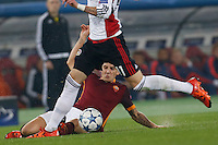 AS Roma's Lucas Digne during the Champions League Group E soccer match between As Roma and  Bayer Leverkusen at the Olympic Stadium in Rome, November 04 2015