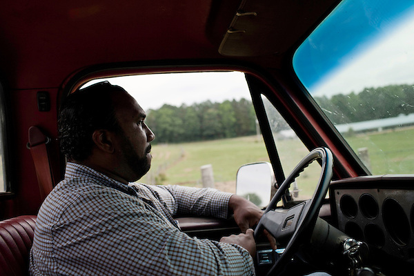 May 22, 2010. Baskerville, Virginia.. John Boyd, Jr. drives across the family farm that they have owned for over 100 years.. Dr. John Boyd, Jr., a Virginia farmer, has lobbied the White House and Congress for the better part of two decades on behalf of black farmers. .A $1.25 billion settlement he helped to negotiate in February for the federal government to compensate black farmers has become ensnared in Washington. .Meanwhile, many elderly farmers who stand to benefit are dying before they can seek restitution..Their case, known as the black farmers settlement, and commonly referred to as Pigford II, is the second phase of a federal lawsuit settled in 1999. It covers more than 80,000 farmers who claim they were denied critical aid comparable to what white farmers received from the Department of Agriculture between 1981 and 1996 because of the color of their skin..Congress reopened the case in 2008, and set aside $100 million to address the late claims. President Barack Obama, who co-sponsored the 2008 measure when he was in the Senate, created a $1.15 billion line item in his budget for the 2010 fiscal year to cover the new class of litigants..The money was less than half of the $2.5 billion the farmers had fought for, but the administration's promise of a quick resolution prompted them to accept the deal.  .