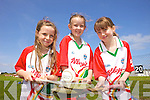 Enjoying the Kelloggs Hurling Cul Camps in Causeway on Friday were: Jade Lynch, Aoife Fealy and Leanne Sheehan.
