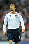 David Beckham of England during the Friendly International match at Wembley Stadium, London. Picture date 28th May 2008. Picture credit should read: Simon Bellis/Sportimage