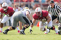 Stanford, CA -- September 13, 2014:  Stanford plays Army at Stanford Stadium.  The Cardinal defeated Army 35-0.