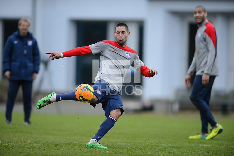 Frankfurt, Germany - Monday March 3, 2014: The USA Men's national team practices in preparation for it's match against Ukraine.