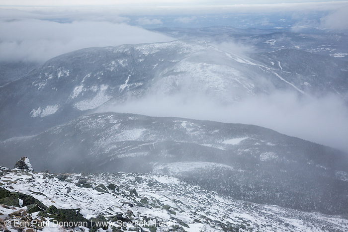 Cannon Mountain from the Greenleaf Trail, on Mount Lafayette, in the White Mountains of New Hampshire USA.