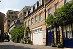 Grosvenor Cresent Mews now a private road. central London, England 2006.