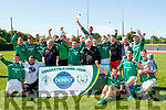 Castleisland celebrate their 2-0 victory over Mastergeeha last Sunday afternoon at Mounthawk park, Tralee in the Denny sponsored Premier B Final in front of a great crowd of supporters from both sides.