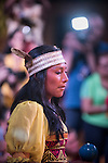 A Kuna woman performs a traditional dance at the first ever International Indigenous Games, in the city of Palmas, Tocantins State, Brazil. The games will start officially with an opening ceremony on Friday the 23rd October. Photo © Sue Cunningham, pictures@scphotographic.com 21st October 2015