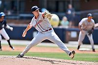 Greenville Drive starting pitcher Shaun Anderson (37) delivers a pitch during a game against the Asheville Tourists at McCormick Field on April 16, 2017 in Asheville, North Carolina. The Drive defeated the Tourists 4-2. (Tony Farlow/Four Seam Images)