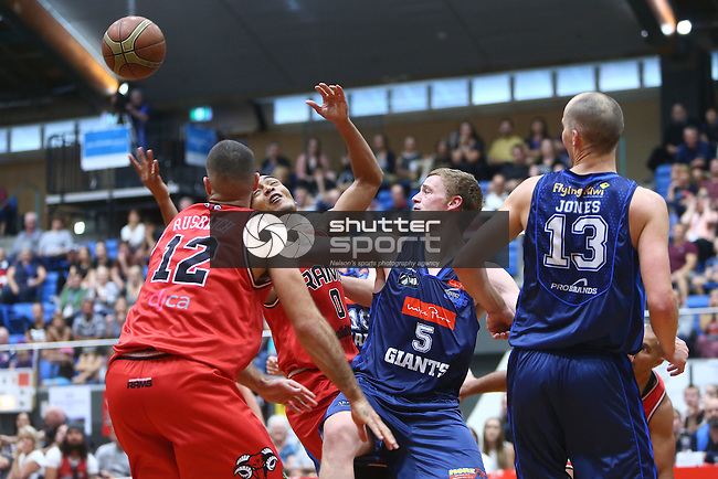 NELSON, NEW ZEALAND - April 25: Nelson Giants v Canterbury Rams on April 25 2016 Trafalgar Center in Nelson, New Zealand. (Photo by: Evan Barnes Shuttersport Limited)