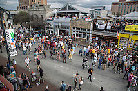 A huge crowd gathers on Sixth Street during SXSW, attendance at SXSW has increased 20 to 30 percent each year.