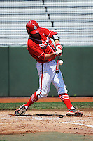 St. John's University Redstorm catcher Danny Bethea (26) during game against the University of Notre Dame Fighting Irish at Jack Kaiser Stadium on May 12, 2013 in Queens, New York. St. John's defeated Notre Dame 2-1.      . (Tomasso DeRosa/ Four Seam Images)