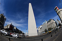 View of the Obelisk of Buenos Aires in the central region of Argentina's capital. (PHOTO: WILLAIM VOLCOV / BRAZIL PHOTO PRESS).