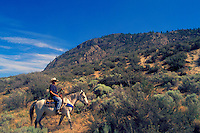 "Tour Guide on Guided Horseback Riding Tour in ""Pocket Desert"" near Osoyoos, BC, South Okanagan Valley, British Columbia, Canada"