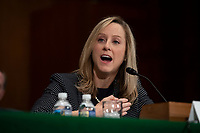 CFPB Director Kathy Kraninger testifies to the Senate Banking Committee on Capitol Hill in Washington, D.C. on March 12, 2019. <br /> CAP/MPI/RS<br /> &copy;RS/MPI/Capital Pictures