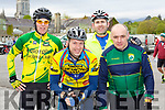 Bernard  Sweeney Killorglin, Kevin O'Leary Killarney, Tim Cocoran Beaufort and Denis O'Connell Killarney at the 3 Climbs cycle in Killarney on Saturday