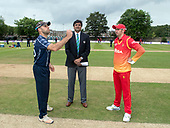 Cricket Scotland - Scotland V Namibia One Day International match at Grange CC today (Thur) - this match is the first of two ODI matches this week against Zimbabwe - team captains Kyle Coetzer and Graeme Cremer at the toss, won by Scotland and watched by Match Referee Javagal Srinath - picture by Donald MacLeod - 15.06.2017 - 07702 319 738 - clanmacleod@btinternet.com - www.donald-macleod.com