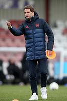 Arsenal manager Joe Montemurro ahead of Arsenal Women vs Bristol City Women, Barclays FA Women's Super League Football at Meadow Park on 1st December 2019