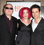 Andy Wachowski, Lana Wachowski, & Tom Tykwer  attending the The 2012 Toronto International Film Festival.Red Carpet Arrivals for  'Cloud Atlas' at the Princess of Wales Theatre in Toronto on 9/8/2012