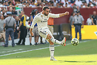 Landover, MD - August 4, 2018: Real Madrid defender Daniel Carvajal (2) in action during the match between Juventus and Real Madrid at FedEx Field in Landover, MD.   (Photo by Elliott Brown/Media Images International)