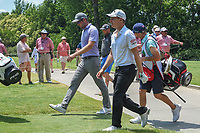 Corey Conners (CAN) and Emiliano Grillo (ARG) head down 9 during round 4 of the Fort Worth Invitational, The Colonial, at Fort Worth, Texas, USA. 5/27/2018.<br /> Picture: Golffile | Ken Murray<br /> <br /> All photo usage must carry mandatory copyright credit (© Golffile | Ken Murray)