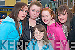 Girls having fun: Meghan Galvin, Grace Moriarty, Michelle Enright, Nicole .Mulvihill and Saoirse Galvin having a great time together at the Listowel St .Patrick's Day parade on Sunday.   Copyright Kerry's Eye 2008