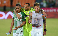 MEDELLIN- COLOMBIA - 23 - 07 - 2017 . Aldo Ramirez (Izq.)  y Dayro Moreno (Der,)   jugadores del  Atlético Nacional al finalizar el encuentro con el Deportes Tolimade la fecha 4 por la Liga Aguila II 2017 en el estadio Atanasio Girardot  de Medellín. / Dayro Moreno (R), player of Atletico Nacional  vies for the ball with Fainer Torijano (L) player of Deportes Tolima , during a match of the date 4nd for the Liga Aguila II 2017 at the Atanasio Girardot Stadium in Medellin  city. Photo: VizzorImage  / León Monsalve / Cont.