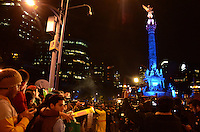 Mexico, DF November 20. 13. Mexican Youth, celebrated at the Angel of Independence, the victory of the Mexican National soccer Team 4-2 against New Zealand. Photo by Miguel Angel Pantaleon/VIEWpress